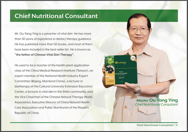 13 Inchaway Chief Nutritional Consultant Ou Yang Ying